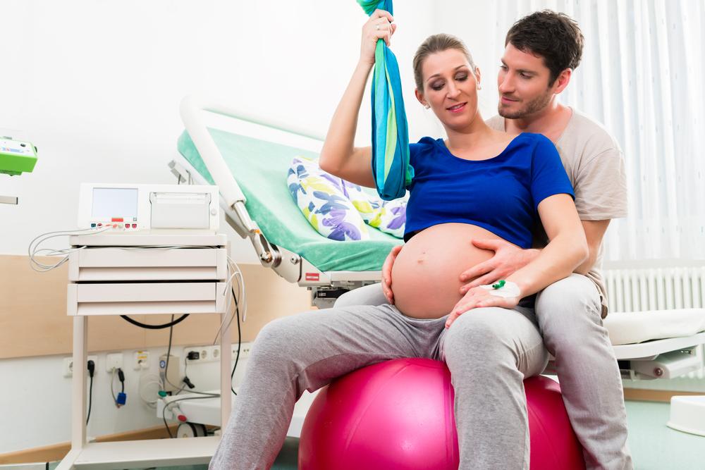 gymnastikball bei entbindung