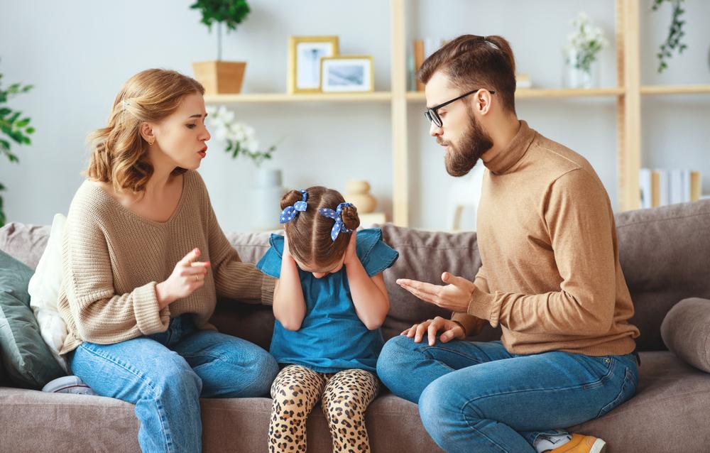 Eltern streiten
